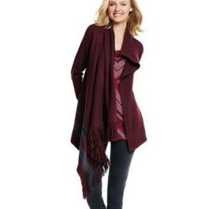 Cabi Womens Size Small Port Fringe Wrap Cardigan